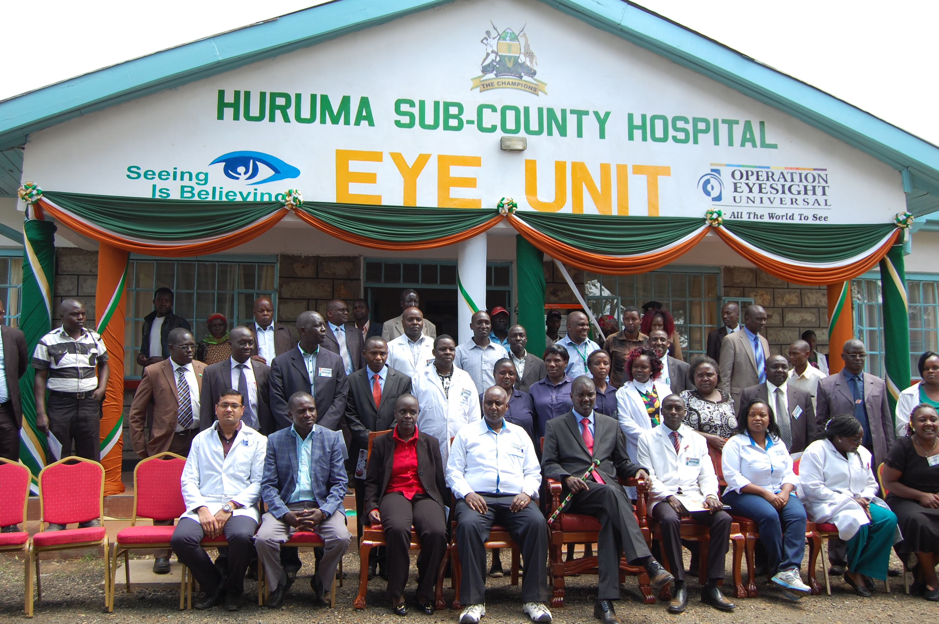 The new eye unit will provide sight-restoration and blindness prevention services for thousands of people in Uasin Gishu County, Kenya.