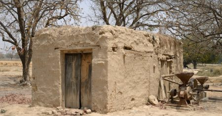 A mud house in the village