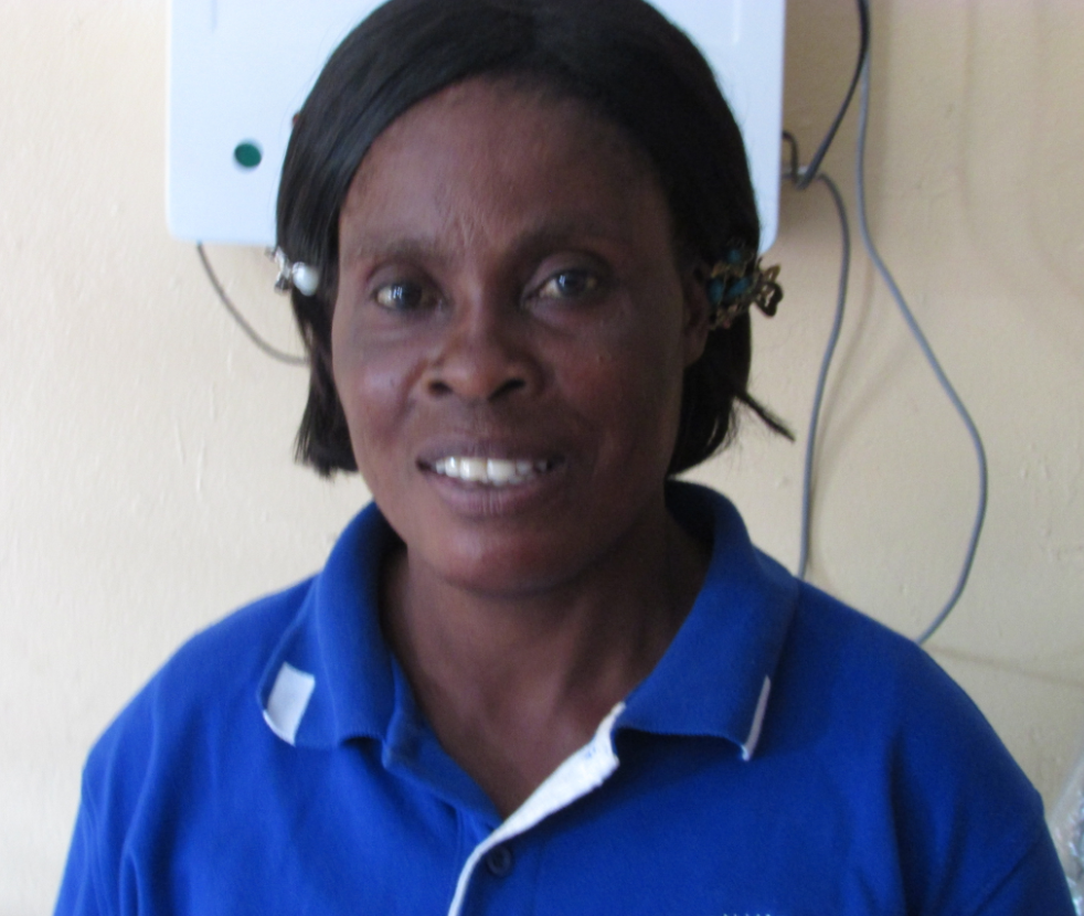 A community health worker in Zambia