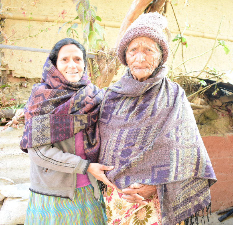 Em and her daughter in Nepal