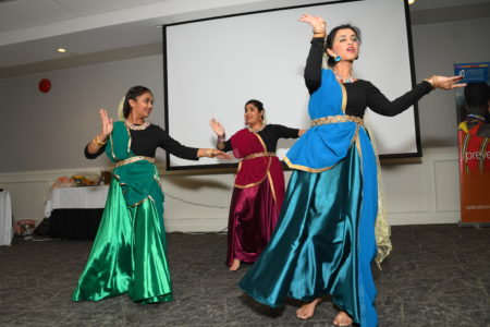 Semi-traditional Indian dancers perform at Operation Eyesight's Donor Celebration