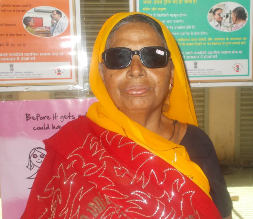 Indian grandmother receives sight'saving surgery