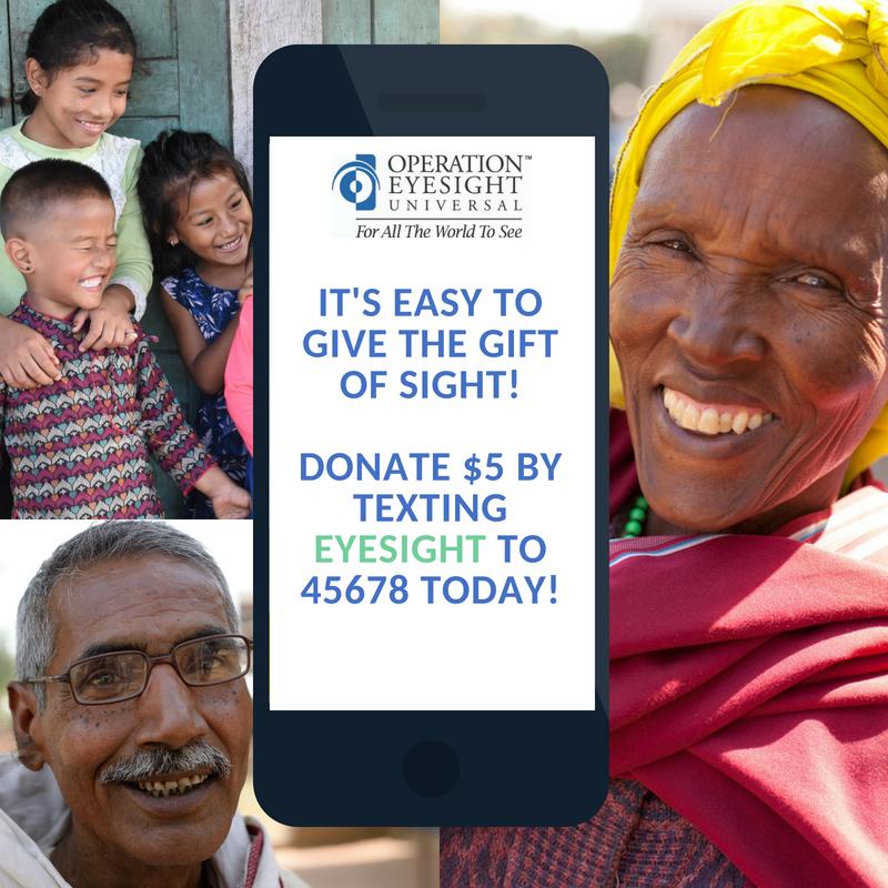 Text to donate operation eyesight