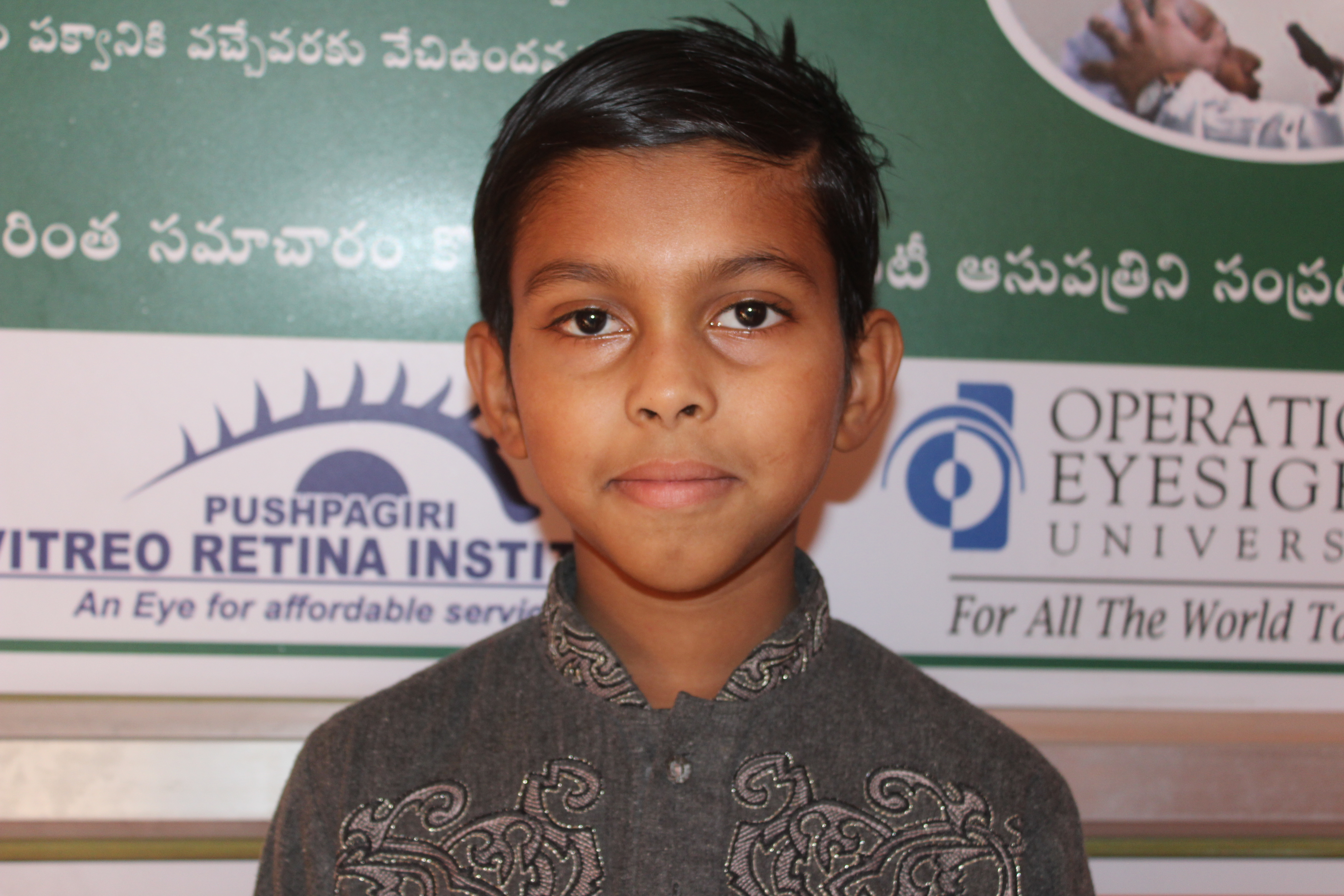 Young Indian boy with cross eye receives corrective surgery through Operation Eyesight