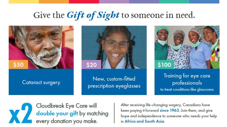 Operation Eyesight has partnered with CloudBreak Eye Care to eliminate avoidable blindness
