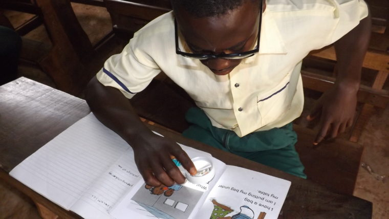 Operation Eyesight donors change a young boy's life with new prescription eyeglasses